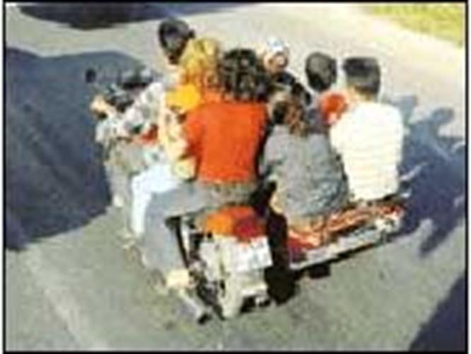 10 kişi motorsiklete sığar mı?